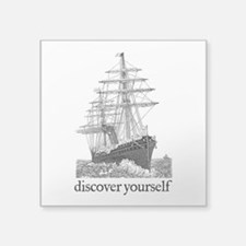 "Discover Yourself Square Sticker 3"" x 3"""
