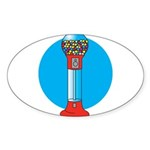 gumball-machine.png Sticker (Oval 50 pk)