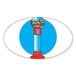gumball-machine.png Sticker (Oval 10 pk)