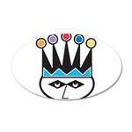 jester.png 35x21 Oval Wall Decal