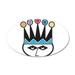 jester.png 20x12 Oval Wall Decal