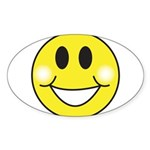 smiley-face.png Sticker (Oval 10 pk)