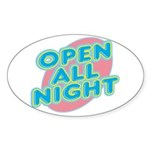 text_open.png Sticker (Oval 50 pk)