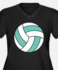 volleyball belly.png Women's Plus Size V-Neck Dark