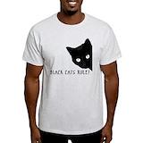 Black cats Mens Light T-shirts