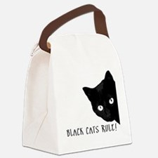 BLACK CATS RULE Canvas Lunch Bag