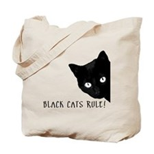 BLACK CATS RULE Tote Bag