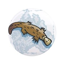 "australian duckbill platypus copy.jpg 3.5"" Button"