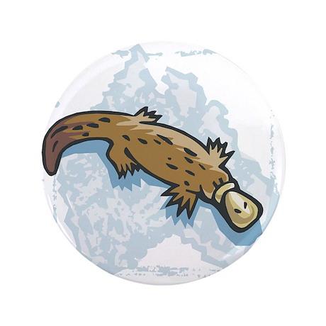 "australian duckbill platypus copy.jpg 3.5"" Button"