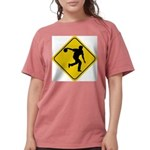 Bowling Crossing Sign Womens Comfort Colors Shirt