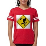 Bowling Crossing Sign Womens Football Shirt
