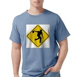 Bowling Crossing Sign Mens Comfort Colors Shirt