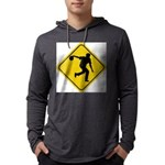 Bowling Crossing Sign Mens Hooded Shirt