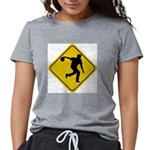 Bowling Crossing Sign Womens Tri-blend T-Shirt
