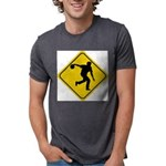 Bowling Crossing Sign Mens Tri-blend T-Shirt