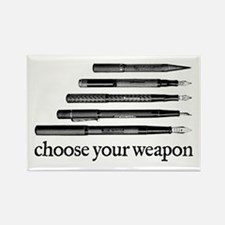 Choose Your Weapon Rectangle Magnet (10 pack)