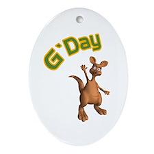 gday kangaroo copy.jpg Ornament (Oval)