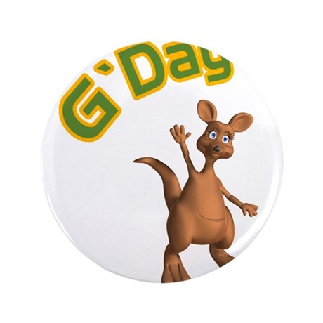 "gday kangaroo copy.jpg 3.5"" Button (100 pack)"