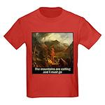 Mountains Calling Kids Dark T-Shirt