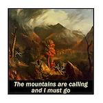 Mountains Calling Tile Coaster