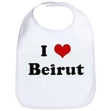 I Love Beirut Bib