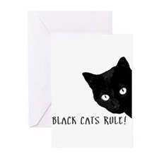 BLACK CATS RULE Greeting Cards (Pk of 20)