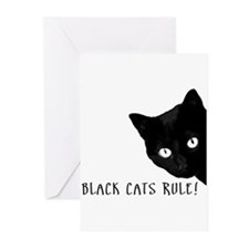 BLACK CATS RULE Greeting Cards (Pk of 10)