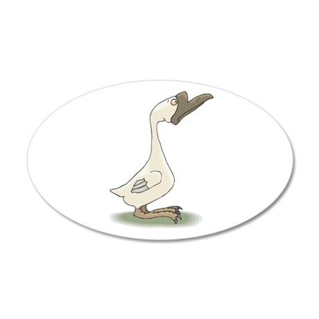 silly goose copy.jpg 35x21 Oval Wall Decal