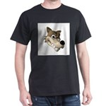 wolf smiling copy.jpg Dark T-Shirt