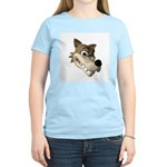 wolf smiling copy.jpg Women's Light T-Shirt