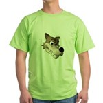 wolf smiling copy.jpg Green T-Shirt