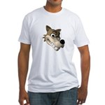 wolf smiling copy.jpg Fitted T-Shirt