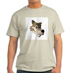 wolf smiling copy.jpg Light T-Shirt