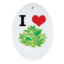 lettuce.jpg Ornament (Oval)