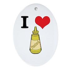 mustard.jpg Ornament (Oval)