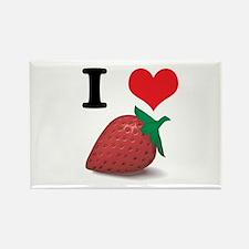 strawberries.jpg Rectangle Magnet (100 pack)
