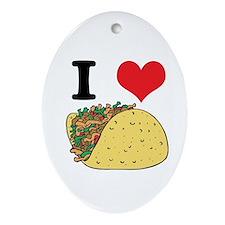 tacos.jpg Ornament (Oval)