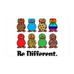 Be Different Ducks.png 35x21 Wall Decal