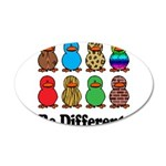 Be Different Ducks.png 20x12 Oval Wall Decal