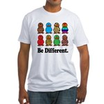 Be Different Ducks.png Fitted T-Shirt