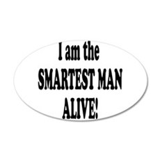 SMARTEST MAN ALIVE.png Wall Decal