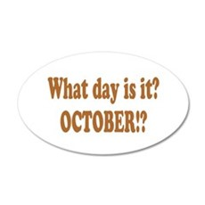 what day is it october.png Wall Decal