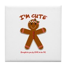 GINGERBREAD GIRL Tile Coaster