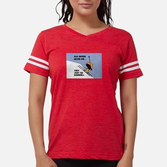 Old Skiers Never Die Womens Football Shirt