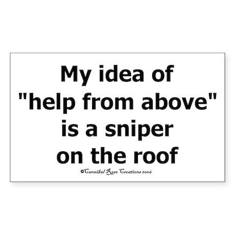 Sniper Rectangle Sticker