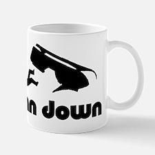 man down snowmobiler Mugs