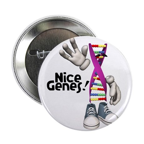 "nice genes dna funny copy.jpg 2.25"" Button (10 pac"