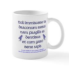 Affairs of Dragons (Latin) Small Mug
