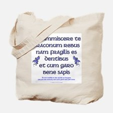 Affairs of Dragons (Latin) Tote Bag