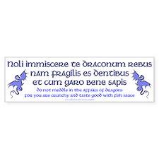 Affairs of Dragons (Latin) Bumper Bumper Bumper Sticker
